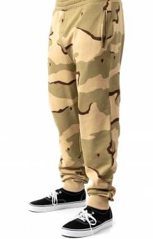 Live Rose Embroidered Camo Sweatpant - Beige/White