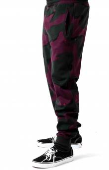 Live Rose Embroidered Camo Sweatpant - Green/White