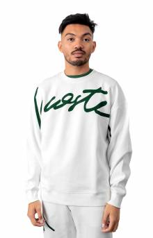 LIVE Signature Texturized Fleece Sweatshirt - White/Green