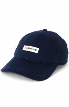 Multicolor-Logo Cotton Cap - Navy Blue