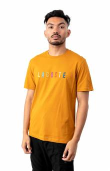 Multicolored Logo Cotton T-Shirt - Orange
