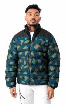 SPORT Color-Blocked Water Resistant Quilted Jacket - Black/Blue/Khaki Green