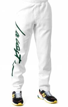 Unisex LIVE Signature Textured Fleece Sweatpants - White/Green