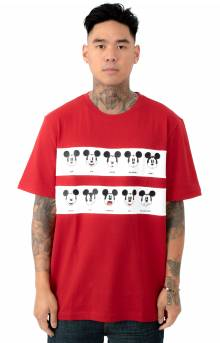 Mickey Graphic Band Cotton Jersey T-Shirt - Lighthouse Red