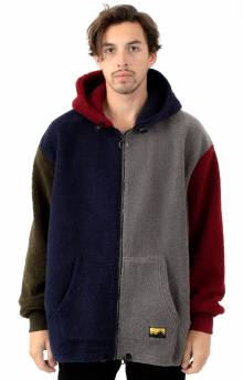 Colour Block Fleecy Hoodie