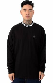 Happy Sad Rib L/S Shirt - Black