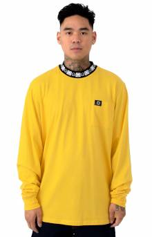 Happy Sad Rib L/S Shirt - Yellow