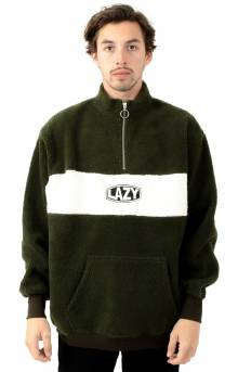 Khaki Polar Fleece Zip Sweater