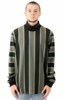 Lazy Stripe Roll Neck Shirt