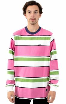 Pink & Green Stripy L/S Shirt