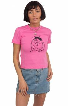 Naked Lady Fitted T-Shirt - Pink