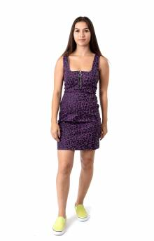 Purple Leopard Zip Up Dress