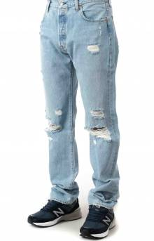 (79830-0103) 501 93' Straight Jeans - Shuttle Light DX