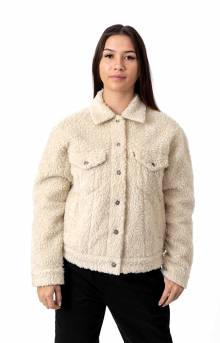 Ex-Boyfriend AO Sherpa Trucker Jacket - Cloud Cream