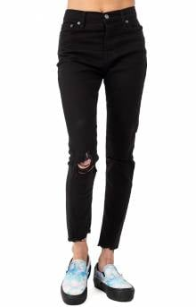 Wedge Skinny Jeans - Soft Ultra Black