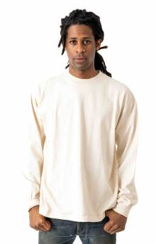 1406GD L/S Garment Dyed Mock Neck Shirt - Creme