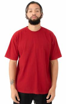 1801GD Garment Dye S/S T-Shirt - Dark Red