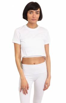 Fine Jersey S/S Crop Top - White