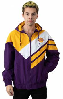 Asymmetrical Blocked Jacket - Los Angeles Lakers
