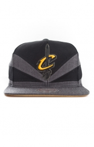 Mitchell & Ness Clothing, Black Slash Snap-Back Hat - Cavs