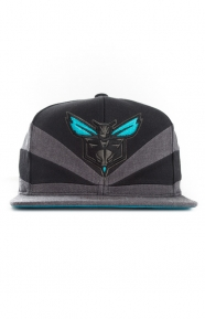 Mitchell & Ness Clothing, Black Slash Snap-Back Hat - Hornets