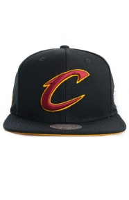 Mitchell & Ness Clothing, Cavs Solid Logo Champion Snap-Back Hat - Black