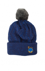 Mitchell & Ness Clothing, Crossed Out Pom Beanie - Warriors