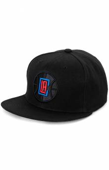 NBA Black Pop Snap-Back Hat - Clippers