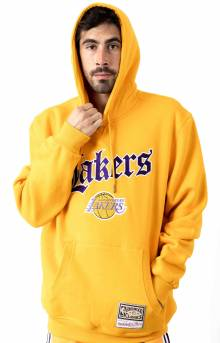 NBA Old English Faded Pullover Hoodie - LA Lakers