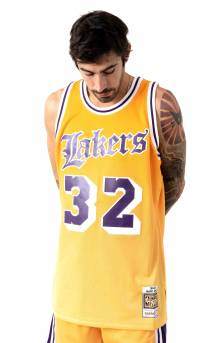 Old English Faded Swingman Jersey Los Angeles Lakers 1984-85 Magic Johnson