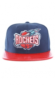 Mitchell & Ness Clothing, Patent 2T Tonal Snap-Back Hat - Rockets