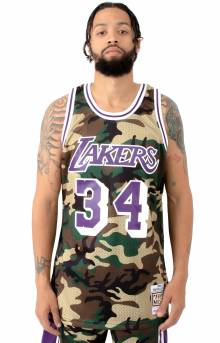 Woodland Camo Swingman Jersey Los Angeles Lakers 1996-97 Shaquille O'Neal