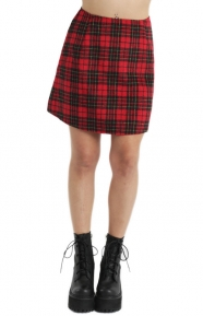 Annie Skater Skirt - Red/Black