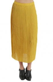 Shannon Long Skirt - Mustard