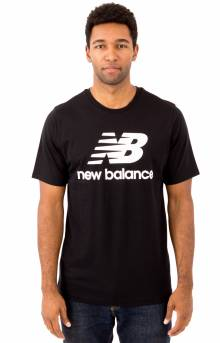 Essential Stacked Logo T-Shirt - Black