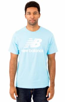 Essential Stacked Logo T-Shirt - Electric Blue