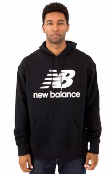 Essential Stacked Pullover Hoodie - Black/White