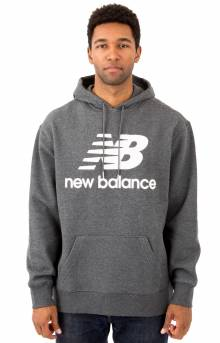 Essential Stacked Pullover Hoodie - Charcoal/White