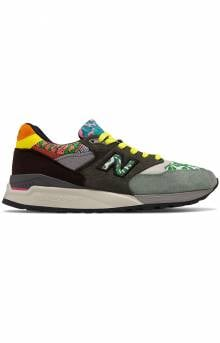 (M998AWK) 998 Shoe - Green/Brown