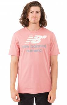 Numeric Stacked T-Shirt - Dusted Peach
