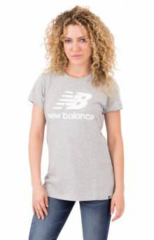 NB Logo T-Shirt - Athletic Grey