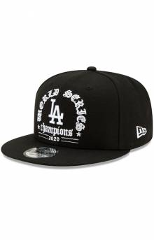 Los Angeles Dodgers 2020 World Series Champions 9FIFTY Snap-Back Hat - Black
