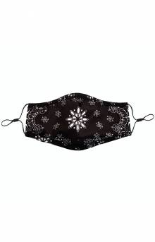 Adult Anti Bacterial Knit Face Mask - Black Paisley