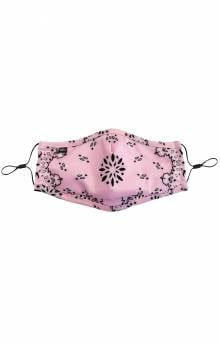 Adult Anti Bacterial Knit Face Mask - Pink Paisley