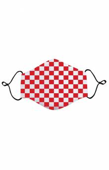 Kids Anti Bacterial Knit Face Mask - Red Checkerboard