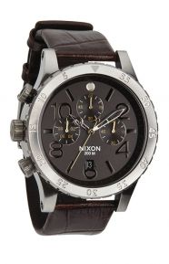 48-20 Chrono Leather Watch - Brown Gator