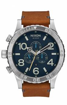 51-30 Chrono Leather Watch - Navy