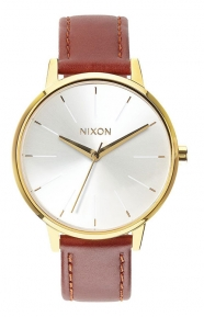 Kensington Leather Women's Watch - Gold/Saddle