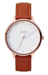 Kensington Leather Women's Watch - Rose Gold/White