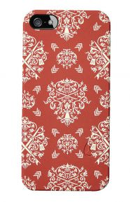 Mitt Print iPhone 5 Case - Red Ornate